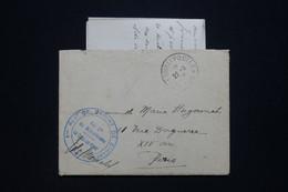 FRANCE - Enveloppe En FM Avec Contenu Pour Paris En 1916 Avec Cachet D'un Régiment De Marche De Zouaves - L 93917 - Guerra De 1914-18