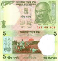 India / 5 Rupees / 2009 / P-94A(a) / UNC - India