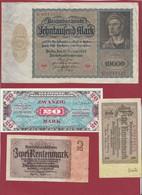 Allemagne 11 Billets Dans L 'état - Non Classés
