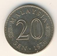 MALAYSIA 1976: 20 Sen, KM 4 - Malaysia