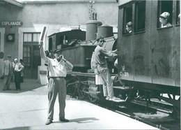 34 Carte Photo MONTPELLIER ESPLANADE - Départ Du Train Pour PALAVAS - Montpellier