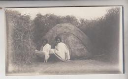 SOMALIA ITALIANA COLONIE BENADIR FOTOGRAFIA  ORIGINALE ABITAZIONE DI BEDUINI  CM 14 X 8 - War, Military