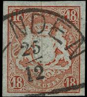 1867, 18 Kr. (Nr. 19) , Signiert, Mi. 220.-., A4428 - Bayern (Baviera)