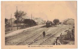 TRANSPORTS TRAINS LOT BIARS GARE : LA GARE - CHEMINS DE FER GARE AVEC TRAIN ET ANIMATION CIRCULEE BOISSE PENCHOT AVEYRON - Other Municipalities