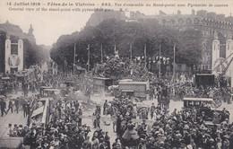 Fêtes De La Victoire 14 Juillet 1919 Vue D'ensemble Du Rond-point Avec Pyramide De Canons - Sin Clasificación