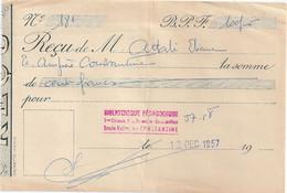 CONSTANTINE RECU Bibliothèque 1957 - Unclassified