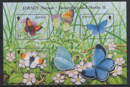 Jersey - 2006 - Feuillet N°Mi. 1241 à 1243 - Papillons / Butterflies - Neuf Luxe ** / MNH / Postfrisch - Mariposas