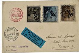 1930, Luftpost-Karte Mit Zeppelin! , A4421 - Covers & Documents