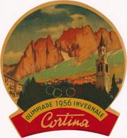 Olimpiade 1956 Invernale Cortina - & Olympics - Adesivi