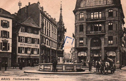 CPA - BÂLE - FISCHMARKTBRUNNEN ... - BS Bâle-Ville