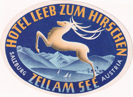 Hotel Leeb Zum Hirschen Zell Am See - & Hotel Label - Adesivi Di Alberghi