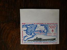 Saint Pierre Et Miquelon, NON DENTELES  P.A. N°28, France Libre Neufs Sans Charnière** MNH  Superbe Et Sans Défaut - De Gaulle (Generale)