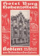 Hotel Burg Hohenzollern - Koblenz - & Hotel Label - Adesivi Di Alberghi