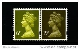 GREAT BRITAIN - 1994  MACHIN  6p. 2B+19p. LB  LITHO QUESTA  PAIR MINT NH  SG Y1766+Y1771 - Série 'Machin'