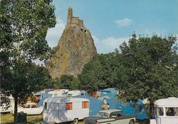 Postcard Le Puy En Velay Camping Municipal Au Pied Du Rocher St Michel My Ref B24720 - Le Puy En Velay