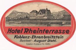 Hotel Rheinterrasse Koblenz Ehrenbreitstein - & Hotel Label - Adesivi Di Alberghi