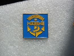 Pin's Emblème Des Troupes De Marine - Army
