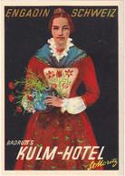 Badrutt's Kulm-Hotel St. Moritz - & Hotel Label - Adesivi Di Alberghi
