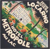Hotel Metropole - Locarno - & Hotel Label - Adesivi Di Alberghi