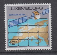 Luxemburg 1989 Satellite Astra / Map Of Europa 1v ** Mnh (51568) - Europese Gedachte