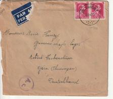 Lettre Censure, Correspondance Prisonier De Belgique Par Allemagne, Camp   Gemeinschaftslager Gera - 2. Weltkrieg 1939-1945