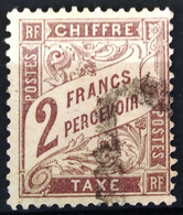 FRANCE                 TAXE  N° 26              OBLITERE             Signé - 1859-1955 Used
