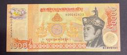 1000 Ngultrum Bhutan 2008 Banknote Serial Number R00042433 - Bhutan