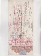 CAMBIALE    BUENOS AIRES  -  ARGENTINA - 1902 .  CON 4 MARCHE DA BOLLO  ( 1 ARGENTINA + 3 FRANCIA ) - Cambiali
