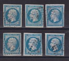 D 147 / LOT NAPOLEON N° 14 OBL - 1853-1860 Napoleon III