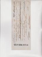 CAMBIALE - LETTERA DI CAMBIO. HOORN - BORDEAUX  1874 .     Con  MARCA  FRANCESE - Bills Of Exchange