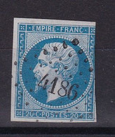 D 148 / LOT NAPOLEON N° 14 OBL / PC 4186 INDICE 15 - 1853-1860 Napoleon III