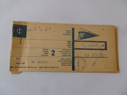 Biglietto TRENO  DA KATOVICE  A MILANO  11.12.1980 - Europe