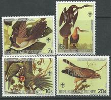 Guinée  N° 764 / 67 XX Bicentenaire Naissance Ornithologue  J. J. Audubon, La Série Des 4 Valeurs, Sans Charnière, TB - Guinée (1958-...)