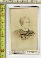 Kl 076 - PHOTO PORTRAIT D'UNE FEMME - FOTO PORTRET VAN EEN VROUW VROUW  - Photographie - J. BAERT DE POUCK GAND - Old (before 1900)