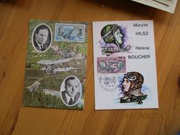 Lot De 4 Theme Aviation  Guillaumet  Vannier Mermoz Boucher   Cm Carte Maximum - 1970-79