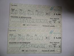 2 BIGLIETTI TRENO DESTINAZIONE  BAGNACAVALLO 2003 - Non Classés