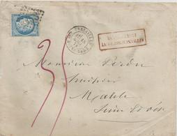 Lettre Départ De Versailles Taxée 35 Pour  Affranchissement Insuffisant - 1873 - 1849-1876: Periodo Classico