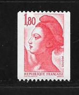 France:n°2223a N°rouge Au Verso - Nuovi