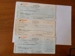 3 BIGLIETTI  TRENO  Tratte  FAENZA-PERUGIA  2006 E RIMINI-RUSSI  2011 - Europe