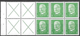 Reich Michel H-Blatt Pane 57B (only 1 Green Stamp Hinged* All Others Mnh **) - Postzegelboekjes