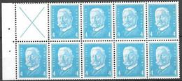 Reich Michel H-Blatt Pane 60B (only 1 Blue Stamp Hinged* All Others Mnh **) - Postzegelboekjes