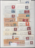 Nederland Kleine Verzameling Briefstukken Met Vlagstempel Periode 1950/1970 - Otros