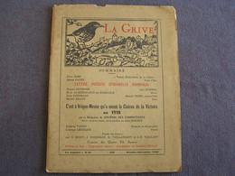 LA GRIVE N° 108 Année 1960 Régionalisme Ardennes Ardenne Poète Poésie Vrigne Sur Meuse Isabelle Rimbaud Thiry Rogissart - Champagne - Ardenne