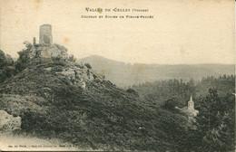 CPA -  VALLEE DE CELLES - CHATEAU ET EGLISE DE PIERRE-PERCEE - Unclassified