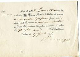 Bolbec'76); Recu Obligation Notariée Thierry 1845 - 1800 – 1899