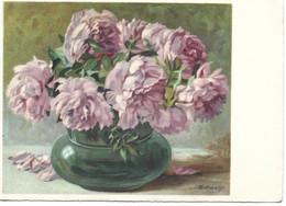CPA VASE DE PIVOINES - - Flowers