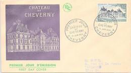FRANCE - FDC CHATEAU DE CHEVERNY - CACHET PREMIER JOUR 19 JUIN 1954   /2 - 1950-1959