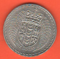 Nuova Zelanda 1 Dollar $ 1967 New Zeland Nikel Coin - New Zealand