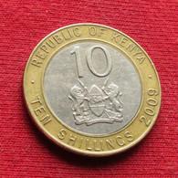 Kenya 10 Shillings 2009 KM# 35.1 Quenia Kenia - Kenya