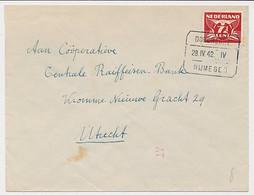 Treinblokstempel : Dordrecht - Nijmegen IV 1942 - Non Classificati